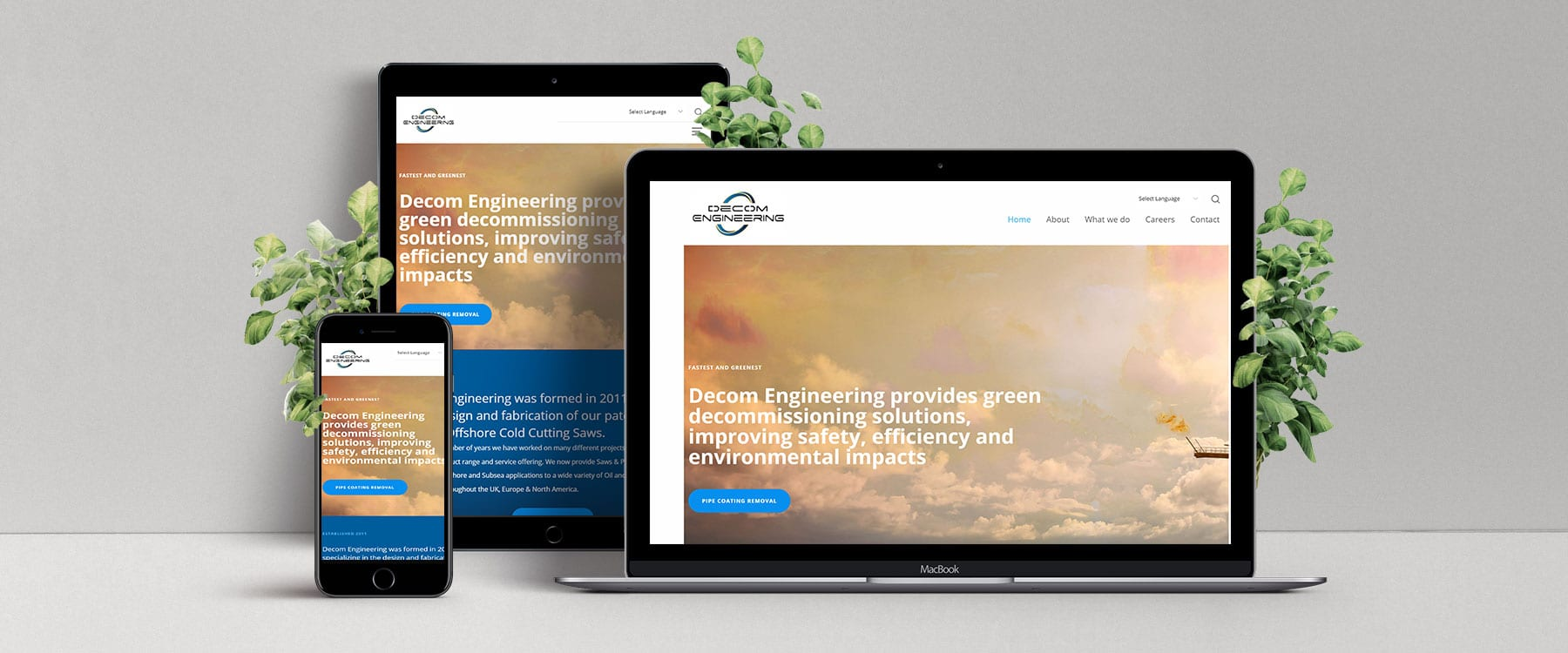 Professional Brochure Website for Decom Engineering Image