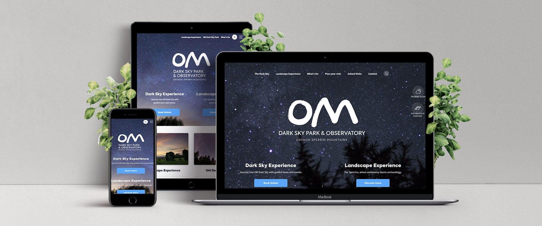 Bespoke New Website for OM Dark Sky Park and Observatory Image