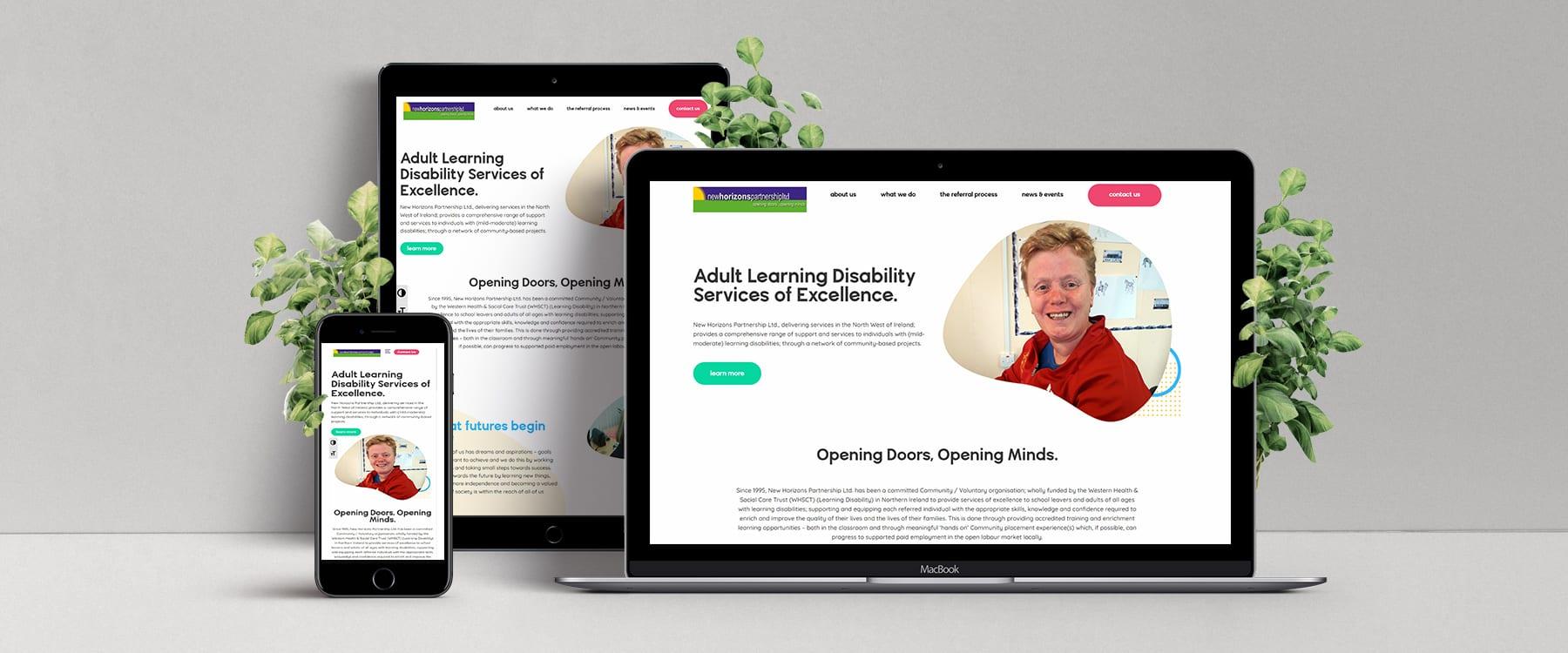 Professional New Website for New Horizons Partnership Image