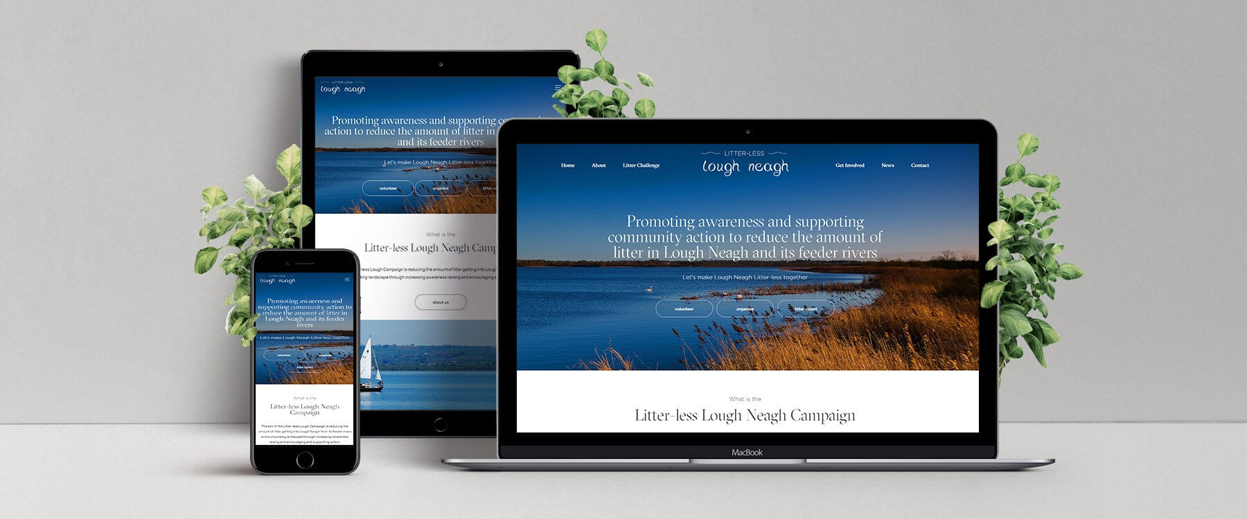 Modern New Website for Litterless Lough Neagh Project Image