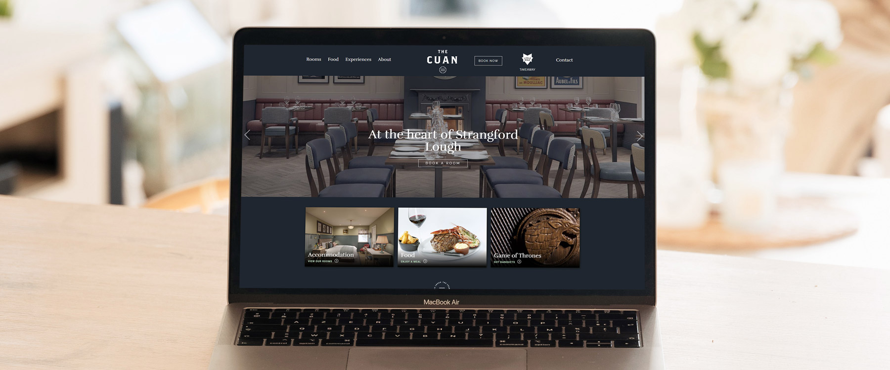 Modern website redesign for County Down hotel, The Cuan Image