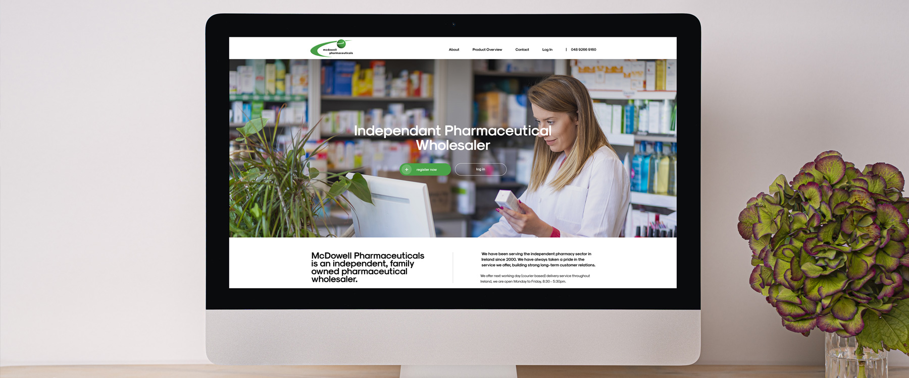 Bespoke new eCommerce Website for McDowell Pharmaceuticals Image