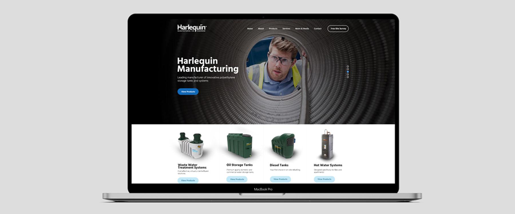 Bespoke new Website for Harlequin Manufacturing Image