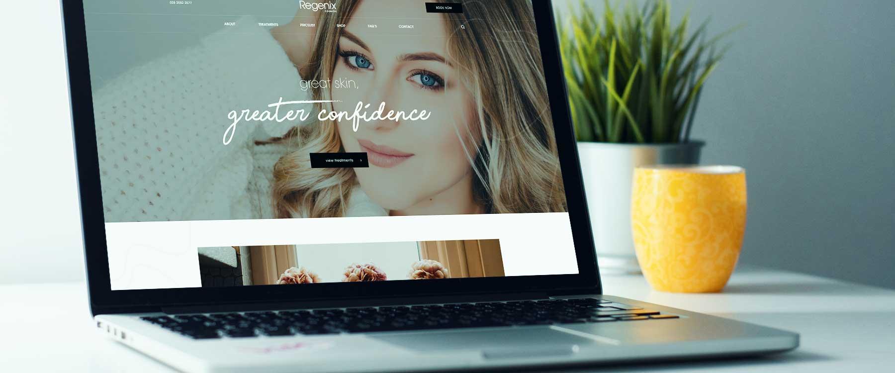 Visually Engaging Website For Regenix Cosmetics Image