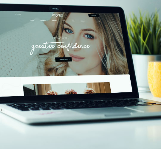 Visually Engaging Website For Regenix Cosmetics Featured Image