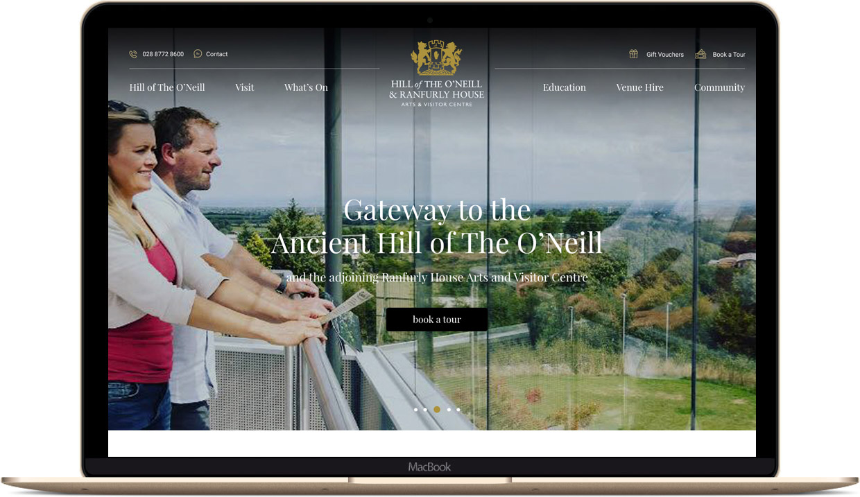 New Engaging Website for Hill of the O'Neill & Ranfurly House Image