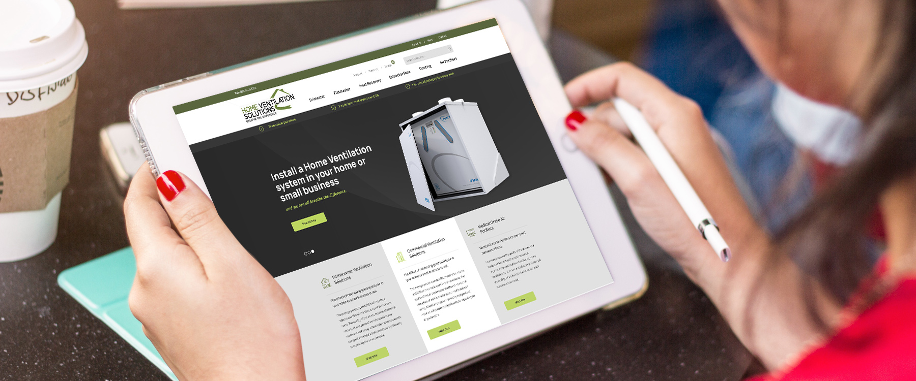 New eCommerce Website for Home Ventilation Solutions Image